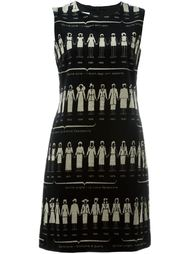 velvet print dress  Moschino Vintage