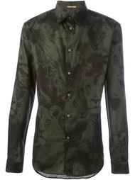 рубашка с камуфляжным принтом Roberto Cavalli