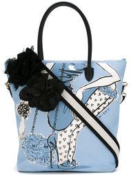 сумка-тоут с принтом девушки Twin-Set