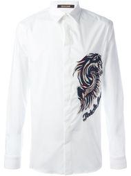 рубашка с вышивкой 'Pegasus'  Roberto Cavalli