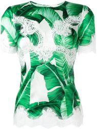 топ с кружевной аппликацией Dolce & Gabbana