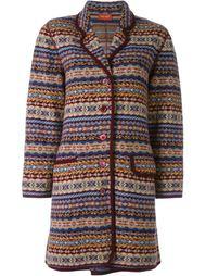 fair isle knit coat  Kenzo Vintage