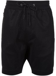 textured track shorts Zanerobe