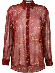 прозрачная рубашка с цветочным узором Balenciaga