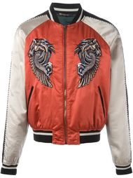 куртка-бомбер с вышивкой 'Pegasus' Roberto Cavalli