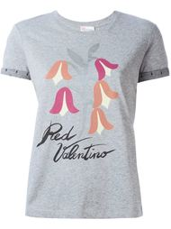 head logo print T-shirt Red Valentino