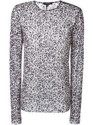 leopard mesh style T-shirt Unconditional
