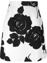 юбка с розами из парчи  Dolce & Gabbana