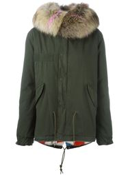 mink and raccoon fur lined jacket Mr & Mrs Italy