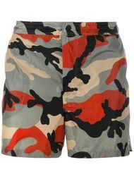 плавательные шорты с камуфляжным принтом  Valentino