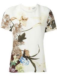 футболка с цветочным принтом Valentino