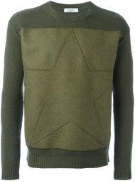 свитер с аппликацией звезды Valentino