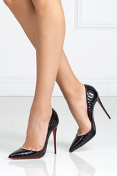Туфли из кожи питона So Kate 120 Christian Louboutin
