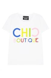 Хлопковая футболка Boutique Moschino