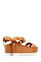 Кожаные сандалии на платформе See By Chloe