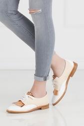 Кожаные туфли Oscar de la Renta