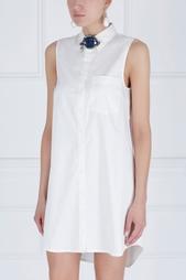 Хлопковое платье-рубашка Meirose Zac Zac Posen