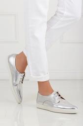 Ботинки из металлизированной кожи Donna Swear