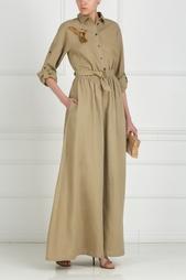 Платье из льна с вышивкой стеклярусом A LA Russe