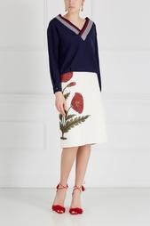Шелковый пуловер Mo&Co