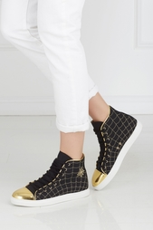 Кеды из хлопка и кожи Web High Tops Charlotte Olympia