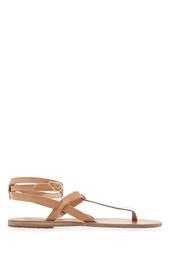Сандалии из металлизированной кожи Estia Ancient Greek Sandals