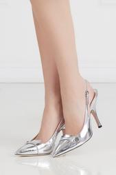 Туфли из металлизированной кожи Rochas