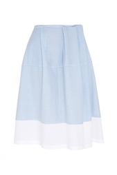 Хлопковая юбка Jil Sander Navy