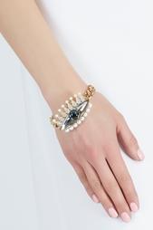 Позолоченный браслет с кристаллами и кабошонами Anton Heunis