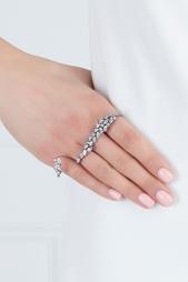 Кольцо с кристаллами на четыре пальца Herald Percy