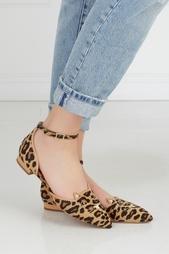Туфли из кожи пони и замши Kitty Brogues Charlotte Olympia
