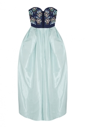 Шелковое платье в пол Oscar de la Renta