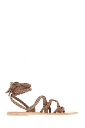 Замшевые сандалии Kariatida Mid Ancient Greek Sandals