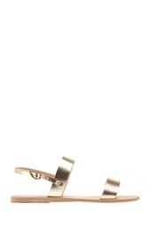 Сандалии из металлизированной кожи Clio Ancient Greek Sandals