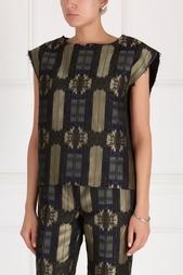 Блузка из хлопка и шелка Ivka
