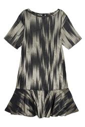 Платье из атласной ткани Ivka