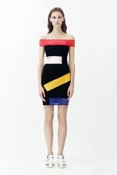Платье из вискозы Christopher Kane