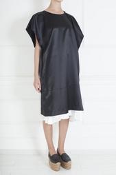 Платье из шелка и шерсти Comme des Garcons