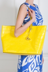 Кожаная сумка Ready to Go Diane von Furstenberg