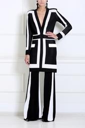 Платье с графичным принтом Balmain