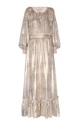 Шелковое платье A LA Russe