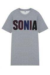 Платье с принтом Sonia by Sonia Rykiel