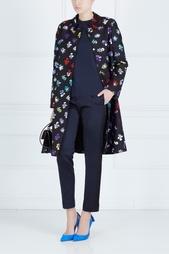 Пальто из шерсти и шелка Diane von Furstenberg