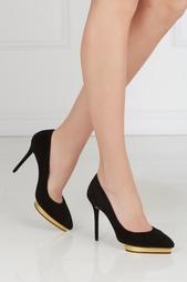 Разноцветные Замшевые туфли Debbie Gold Platform Charlotte Olympia