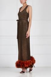 Платье с перьями марабу VICTOR COSTA (70-е) Peremotka