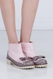 Кожаные ботинки Les'