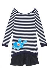 Хлопковое платье Jil Sander Navy