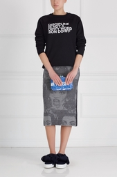 Юбка из шерсти и шелка Marc Jacobs