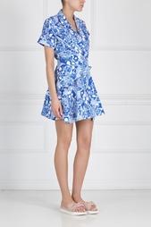 Платье с принтом Carven