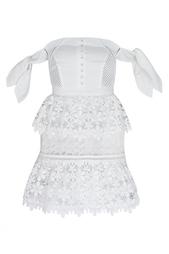 Кружевное платье Сorset and lace tiered dress Self Portrait